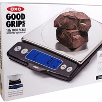 NEW OXO Good Grips Stainless Steel Food Scale with Pull-Out Display, 11-Pound
