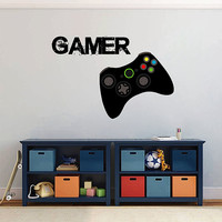kcik1498 Full Color Wall decal controller console Xbox 360 Game PS4 player bedroom teens