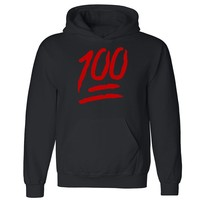 "Zexpa Apparelâ""¢ 100 Percent Emoji Unisex Hoodie Funny Collage Party Dope Print Hooded Sweatshirt"