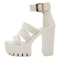New Summer Shoes Women White Open Toe Button Belt Thick Heel Wedges Platform Shoes Fashionable Casual Sandals Female