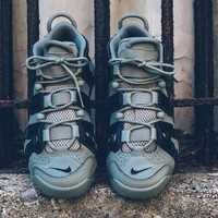 """Nike Air More Uptempo""""Green 3M"""" Basketball Shoes 415082-007"""