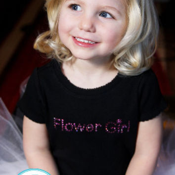 Junior Jr Maid of Honor Rhinestone Shirt Swarovski  Flower Girl  Bling Tee Sparkle Girls Baby Custom Wedding Bridal