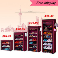 Shoe cabinet shoes racks storage large capacity home furniture DIY simple 3 5 7 9 layers Free shipping