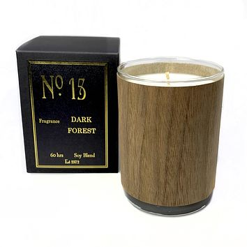 Wood Candle No. 15 Dark Forest