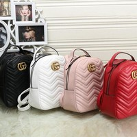 Gucci Fashion Casual Women Bookbag Shoulder Bag Handbag Backpack