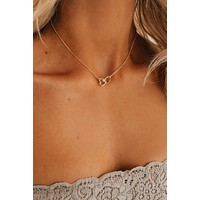 Baby I'm In Love Charm Necklace (Gold)