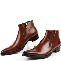 Zip Ankle Boots Made From Leather For Men