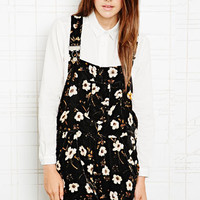 House of Hackney Velvet Dungaree Shorts in Floral at Urban Outfitters