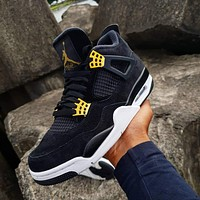 "Air Jordan 4 Retro ""Royalty"" sneakers basketball shoes"