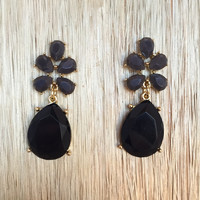 Two Faced Earrings In Black