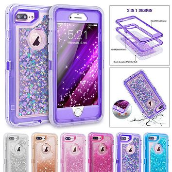3D Glitter Armor iPhone Case