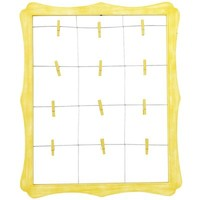 Scalloped Window Clip Frame - Yellow