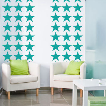 Wall Decal Geometric Stars Patriotic Fourth of July Americana Decor Pattern Abstract Galaxy Solar System Independence Day