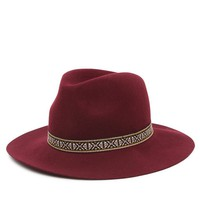 With Love From CA Tribal Trim Panama Hat - Womens Hat - Red - One