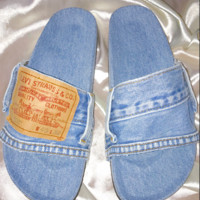 SWEET LORD O'MIGHTY! OG DENIM SLIDES IN LIGHT WASH - PREORDER