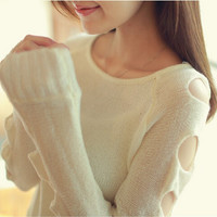 Hole hollow sweater AS103C