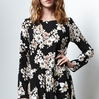 Honey Punch Floral Long Sleeve Romper - Womens Dress - Floral