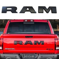 One set tailgate emblem Brand New And High Qaulity 3D Tailgate Ram Emblem Trim Rear Letter SET OF 3 For 2015-2018 Dodge Ram 1500