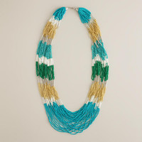 Turquoise Seed Bead Multi-Strand Statement Necklace | World Market