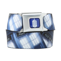 Doctor Who TARDIS Print Seat Belt Belt