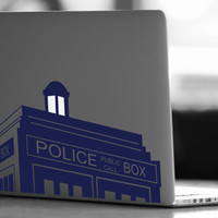 Tardis Doctor Who Vinyl Decal - Doctor Who Decal - Laptop Decal - Vinyl Ipad Decal - Computer Decal - Computer Sticker - Doctor Who Sticker