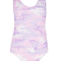 Tall Bronte Scoop High Rise Camo Bodysuit | Boohoo