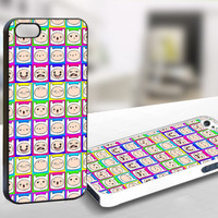 Adventure Time Finn Face Pattern - Iphone 4/4s Case Print On Hard Cover