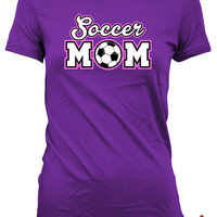 Soccer Mom Shirt Soccer Shirts For Mom Mothers Day Gifts Soccer Lover Shirt Soccer Gifts For Mom Sports Fan Gift Ladies Tshirt MD-618