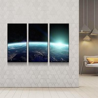 Outer Space Sunrise Canvas Set