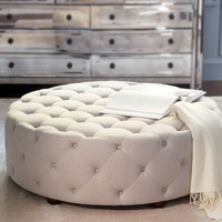 """""""Bevin"""" Tufted Ottoman - Horchow"""