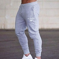 Mens Run Sports Joggers Pants Male Sportswear Bottoms Skinny Sweatpants Men Trousers Gym Fitness Bodybuilding Track Pants