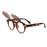 Two-Double Vintage Sunglasses In Leopard Print