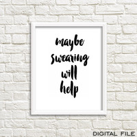 office desk accessories office poster office artwork cubicle accessories cubicle print cubicle decoration swearing poster cubicle wall decor