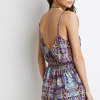 Tribal Print Scalloped Romper