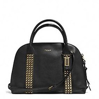 BLEECKER PRESTON SATCHEL IN STUDDED LEATHER