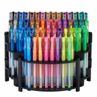 100 Gel Pens with Organizer - Great Christmas gift for Adult Coloring Books, Journaling, Scrapbooking enthusiasts - 100 Gel Ink Pens Set