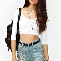 Scoop Crop Top - White in Clothes at Nasty Gal
