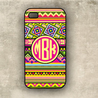 iPhone case - Tribal, aztec pattern - preppy circle monogram Iphone cover  4s, Iphone 4 case (9887)