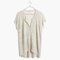 Linen Interlude Sweater in Heather Dove