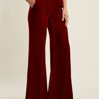 Lincoln wide-leg velvet trousers | Racil | MATCHESFASHION.COM US