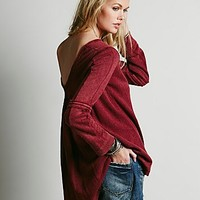 Free People Womens Low Back Shirred Pullover