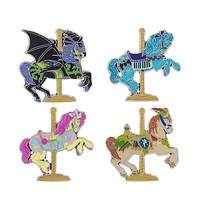 Disney Parks Carousel Horse Pin Set New with Card