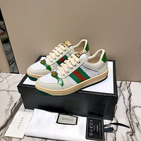 Gucci Women's Leather Fashion Rhyton Sneakers Shoes