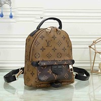 Louis Vuitton LV Fashion Zipper Small Backpack Classic Letters Fully Printed Pattern Ladies Men Shoulder Bags Backpacks