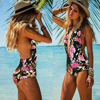 Bodysuit One Piece Swimsuit Padded Swimsuit Bathing Suit Swimwear