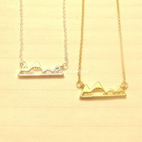 Mountain Necklace - Gold, Rose Gold & Silver