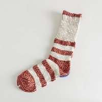 Flag Border Socks Red - Kapital - Context Clothing