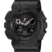 G-Shock Men's Black Resin Strap Watch GA100-1A1 - Watches - Jewelry & Watches - Macy's