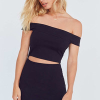 Silence + Noise Off-The-Shoulder Slashed Ponte Dress   Urban Outfitters
