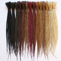Synthetics Dreads Double Ended Basic - NATURAL COLOR-  15-17 inches lenght - Medium thickness